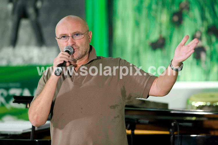 **ALL ROUND PICTURES FROM SOLARPIX.COM**.**SYNDICATION RIGHTS FOR UK AND SPAIN ONLY**.Phil Collins at the first rehearsal for the Musical 'Tarzan' in Hamburg, Germany. 11th August 2008..JOB REF: 6999 CPR/ Oliver Fantitsch       .DATE: 11_08_2008.**MUST CREDIT SOLARPIX.COM OR DOUBLE FEE WILL BE CHARGED* *UNDER NO CIRCUMSTANCES IS THIS IMAGE TO BE REPRODUCED FOR ANY ONLINE EDITION WITHOUT PRIOR PERMISSION*