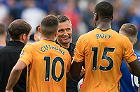 Referee Andre Marriner smiles at full time during the Premier League match between Leicester City and Wolverhampton Wanderers at the King Power Stadium, Leicester, England on 10 August 2019. Photo by Andy Rowland.