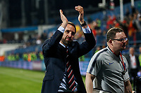 England Manager Gareth Southgate celebrates after the UEFA Euro 2020 Qualifying Group A match  <br /> Podgorica 25-3-2019 <br /> Football Euro2020 Qualification Montenegro - England <br /> Foto Daniel Chesterton / PHC / Insidefoto <br /> ITALY ONLY