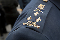 Ville de Levis Police badge is seen during a police memorial parade in Ottawa Sunday September 26, 2010.