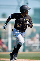 Pittsburgh Pirates Luis Perez (52) during a minor league Spring Training game against the Atlanta Braves on March 13, 2018 at Pirate City in Bradenton, Florida.  (Mike Janes/Four Seam Images)