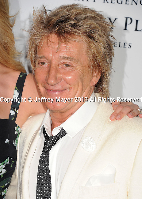 CENTURY CITY, CA- MAY 03: Singer/musician Rod Stewart arrives at the 20th Annual Race To Erase MS Gala 'Love To Erase MS' at the Hyatt Regency Century Plaza on May 3, 2013 in Century City, California.