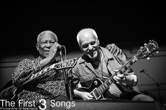 B.B. King and Peter Frampton perform during the Frampton's Guitar Circus at Riverbend Music Center in Cincinnati, Ohio.