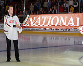 Chris Venti - The Boston College Eagles defeated the visiting Northeastern University Huskies 3-0 after a banner-raising ceremony for BC's 2012 national championship on Saturday, October 20, 2012, at Kelley Rink in Conte Forum in Chestnut Hill, Massachusetts.