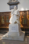 Statue of Tennyson, Trinity College chapel, University of Cambridge, England