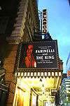 "Theatre Marquee unveiling for  ""Farinelli And The King"" starring Mark Rylance at Belasco Theatre on November 3, 2017 in New York City."