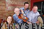 Suzanne Quille, Dennis Curtin, John McNulty and John Foley get ready for the launch of the annual Abbeyfeale Fleadh by the Feale over the May bank holiday weekend pictured here last Thursday night in Murphy's Bar, Abbeyfeale