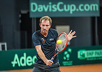 The Hague, The Netherlands, September 11, 2017,  Sportcampus , Davis Cup Netherlands - Chech Republic, training, Matwe Middelkoop (NED)<br /> Photo: Tennisimages/Henk Koster