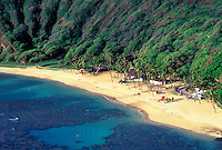 Beach at Hanauma Bay on the Island of Ohau