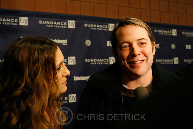 "Park City, UT --1/20/08--.Sarah Jessica Parker and husband Matthew Broderick arrive for the premiere of the movie ""Smart People,"" at the Eccles Theater.. .********..Photo by Chris Detrick/The Salt Lake Tribune.frame #_1CD7175."