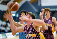Action from the 2019 Schick AA Boys' Secondary Schools Basketball Premiership National Championship bronze playoff between Mount Albert Grammar School and Cashmere High School at the Central Energy Trust Arena in Palmerston North, New Zealand on Saturday, 5 October 2019. Photo: Dave Lintott / lintottphoto.co.nz