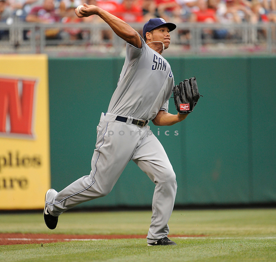 KYLE BLANKS, of the San Diego Padres, in action during the Padres game against the Philadelphia Phillies on July 25,2011 at Citizens Bank Park in Philadelphia, Pennsylvania. The Padres beat the Phillies 5-4.