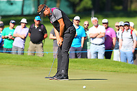 Ian Poulter misses his putt on the 5th green during the BMW PGA Golf Championship at Wentworth Golf Course, Wentworth Drive, Virginia Water, England on 26 May 2017. Photo by Steve McCarthy/PRiME Media Images.