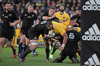 Wallabies' Will Skelton in action during the All Blacks v Wallabies. The Rugby Championship &amp; Bledisloe Cup at Westpac Stadium, Wellington, New Zealand on Saturday 27 August 2016.<br /> Photo by Masanori Udagawa. <br /> www.photowellington.photoshelter.com.