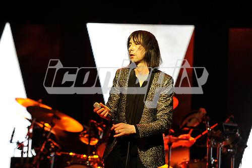 PRIMAL SCREAM - vocalist Bobby Gillespie - performing live at the Palladium in London UK - 01 Apr 2016.  Photo credit: Zaine Lewis/IconicPix