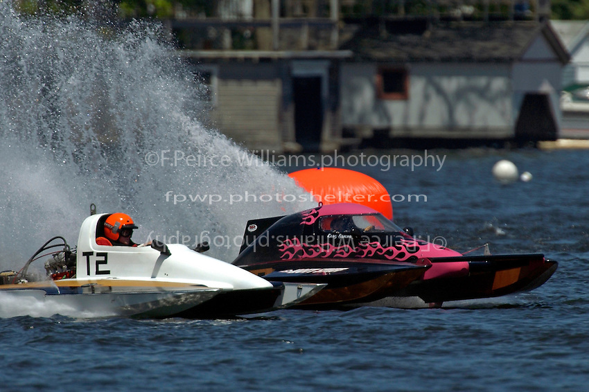 "Kasey Browning, T-X ""Hot Stuff"", 1 Litre Stock hydroplane..Lake Hopatcong, NJ USA 17 May, 2003.©F. Peirce Williams 2003..F. Peirce Williams .photography.P.O.Box 455 Eaton, OH 45320.p: 317.358.7326  e: fpwp@mac.com."