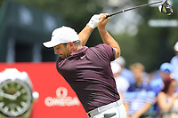 Francesco Molinari (ITA) tees off the 1st tee to start Saturday's Round 3 of the 2017 PGA Championship held at Quail Hollow Golf Club, Charlotte, North Carolina, USA. 12th August 2017.<br /> Picture: Eoin Clarke | Golffile<br /> <br /> <br /> All photos usage must carry mandatory copyright credit (&copy; Golffile | Eoin Clarke)