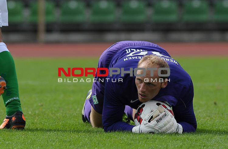 18.08.2013, Platz 11, Bremen, GER, RLN, Werder Bremen II vs SV Eichede, im Bild Tobias Duffner (Bremen #22)<br /> <br /> Foto &copy; nph / Frisch