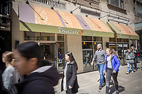 A Panera Bread store in the Chelsea neighborhood of New York, on Monday, April 3, 2017.  The fast-casual Panera Bread Co. chain is reported to be exploring the options of a sale of itself after it has received takeover interest from an unspecified party.  (© Richard B. Levine)