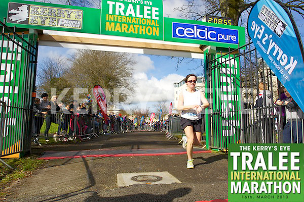 1667 Teresa Richardson pictured at the finish line Kerry's Eye, Tralee International Marathon on Saturday March 16th 2013.