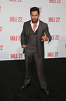 "9 August 2018-  Westwood, California - Sam Medina. Premiere Of STX Films' ""Mile 22"" held at The Regency Village Theatre. Photo Credit: Faye Sadou/AdMedia"