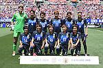 Japan team group line-up (JPN), JUNE 5, 2016 - Football / Soccer : Japan team group (L-R) Erina Yamane, Saki Kumagai, Mizuho Sakaguchi, Yuika Sugasawa, Yuri Kawamura, Rumi Utsugi, front; Hikari Takagi, Yu Nakasato, Mana Iwabuchi, Hina Sugita, Rika Masuya pose before the Women's International Friendly match between United States 2-0 Japan at FirstEnergy Stadium in Cleveland, Ohio, United States. (Photo by AFLO)