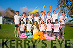 Mercy Mounthawk Launch of Colour Run Health Promotion Week. Pictured l-r  Nessa McGerty, Riya Mallick, Lauren Barrett, Amy Lawlor, Orla O'Riordan, Lauren O'Grady and Ruairi O'Kelly. Back l-r  Liam O'Malley, Liam O'Leary, John Holmes, Eoghan O Buachalla, Darragh O'Sullivan, Gerald Tobin, Darragh Clark and Tom Guerin