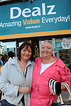 FREE PIC - NO REPRO FEE<br /> 24/09/2015 - Blackpool, Cork<br /> Sisters Breda Hegarty from Parklands, Blackpool and Noreen Buckley from Fairhill at the official opening of the new Dealz store at Blackpool Retail Park, Cork.<br /> Pic: Brian Lougheed