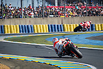 The riders during the MotoGP race of Le Mans in France. 05/18/2014. Samuel de Roman/Photocall3000