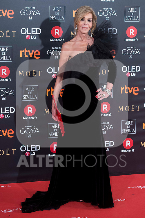 Bibiana Fernandez attends red carpet of Goya Cinema Awards 2018 at Madrid Marriott Auditorium in Madrid , Spain. February 03, 2018. (ALTERPHOTOS/Borja B.Hojas)