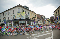 peloton turning onto the infamous Cauberg<br /> <br /> Amstel Gold Race 2014