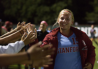 STANFORD, CA - August 10, 2018: Katie Meyer at Laird Q. Cagan Stadium. The Stanford Cardinal defeated the Fresno State Bulldogs 4-0.
