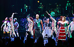 Pettermint with cast perform during a special curtain call at Broadway's 'Head Over Heels' on July 12, 2018 at the Hudson Theatre in New York City.