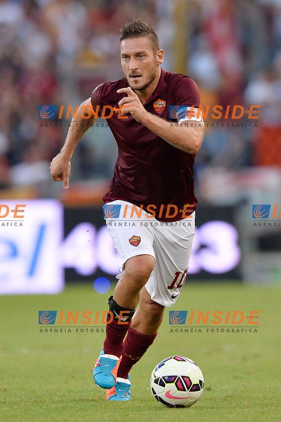 Francesco Totti Roma.<br /> Roma 27-09-2014 Stadio Olimpico. Football Calcio 2014/2015 Serie A. AS Roma - Hellas Verona. Foto Antonietta Baldassarre / Insidefoto