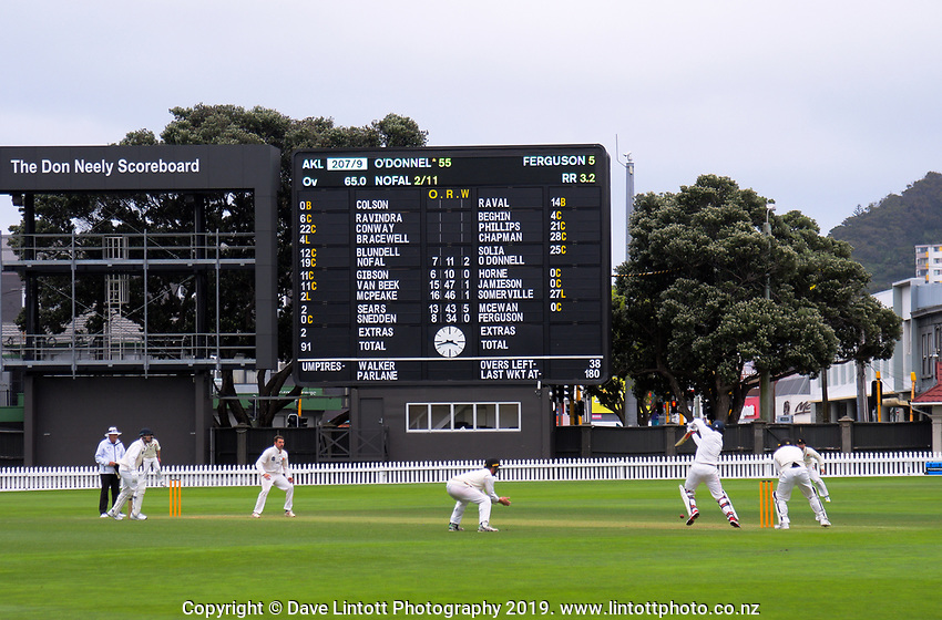 Auckland's Robbie O'Donnell bats during day two of the Plunket Shield cricket match between the Wellington Firebirds and Auckland at Basin Reserve in Wellington, New Zealand on Saturday, 9 November 2019. Photo: Dave Lintott / lintottphoto.co.nz