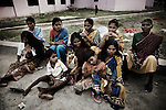 Christian refugees relax at the relief comittee in Orissa's capital Bhubaneswar. .Nov. 04, 2008.