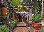Garden at Ex-hacienda De San Gabriel De Barrera, Centra Mexico