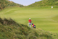 Robert Canon (Balbriggan) on the 11th green during Round 3 of The South of Ireland in Lahinch Golf Club on Monday 28th July 2014.<br /> Picture:  Thos Caffrey / www.golffile.ie