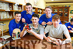 Students at the launch of the Castleisland Community College's Science and Computing Fair.  L to r:  Darren Horan, Dermot McCarthy, Jack Corran, Ryan McGuire and Ryan Lonergan.