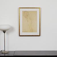 "Klimt: ""Study Of Female Nude"", Digital Print, Image Dims. 17.5"" x 12"", Framed Dims. 23"" x 17.25"""