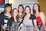 SOCIAL: Having a great night at the Ballyduff Hurlinbg Club GAA social in Ballyroe Heights Hotel Tralee on Saturday night, L-r: Marian Cunningham, Sinead O'Sullivan, Michelle Mckenna, May and Marie Enright (Ballyduff)....