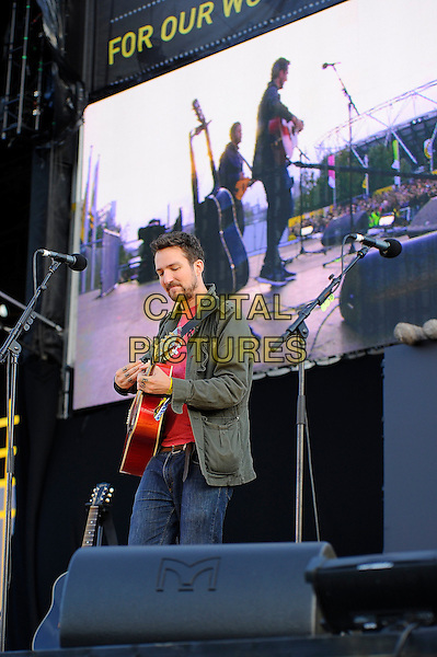 LONDON, ENGLAND - SEPTEMBER 14:  Frank Turner performing at The Jaguar Land Rover Invictus Games Closing Concert at Queen Elizabeth Olympic Park on September 14, 2014 in London, England.<br /> CAP/MAR<br /> &copy; Martin Harris/Capital Pictures