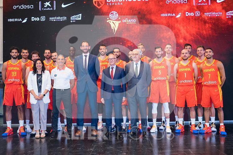 Spanish National Team of Basketball.  July 24, 2019. (ALTERPHOTOS/Francis Gonzalez)