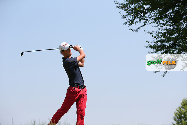 Renato Paratore (ITA) on the 17th tee during Round Three of the 2015 Lyoness Open powered by Greenfinity at the Diamond Country Club, Atzenbrugg, Vienna, Austria. 13/06/2015. Picture: Golffile | David Lloyd<br /> <br /> All photos usage must carry mandatory copyright credit (&copy; Golffile | David Lloyd)