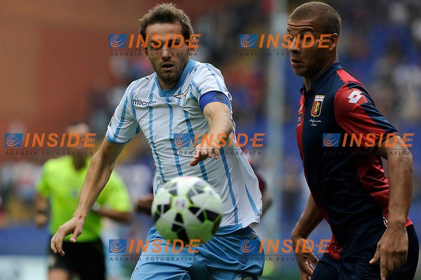 Senad Lulic Lazio, Edenilson Genoa <br /> Genova 21-09-2014 Stadio Luigi Ferraris - Football Calcio Serie A Genoa - Lazio. Foto Insidefoto