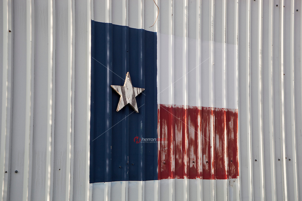 Building with Texas flag painted on it