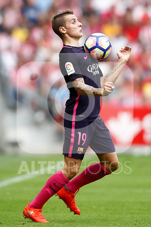 FC Barcelona's Lucas Digne during La Liga match. September 24,2016. (ALTERPHOTOS/Acero)