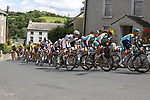 The peloton including Lance Armstrong (USA) Astana through Inistioge village during Stage1 of the 2009 Tour of Ireland, running 196km from the Ritz-Carlton Hotel Powerscourt, Enniskerry to Waterford, Ireland. 21st August 2009.<br /> (Photo by Eoin Clarke/NEWSFILE)