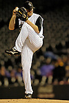 7 September 2006: Aaron Cook, starting pitcher for the Colorado Rockies, on the mound against the Washington Nationals. The Rockies defeated the Nationals 10-5 in a rain-delayed game at Coors Field in Denver, Colorado. ..Mandatory Photo Credit: Ed Wolfstein..