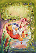 Ron, CUTE ANIMALS, Quacker, paintings, duck, red umbrella(GBSG8094,#AC#) Enten, patos, illustrations, pinturas